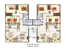 120 sq mtr  Double Bedrooms